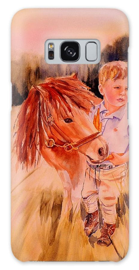 Watercolor Paintings Galaxy S8 Case featuring the painting Welles And Jack by Dodie Davis