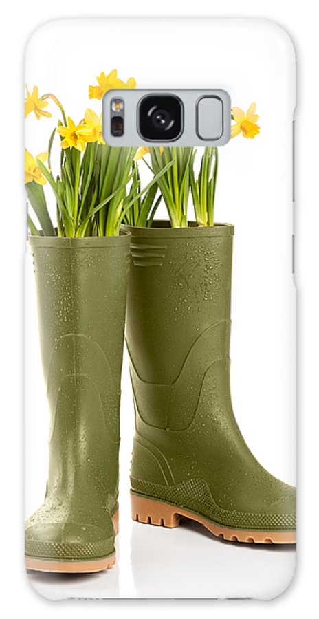 Spring Galaxy S8 Case featuring the photograph Wellington Boots by Amanda Elwell