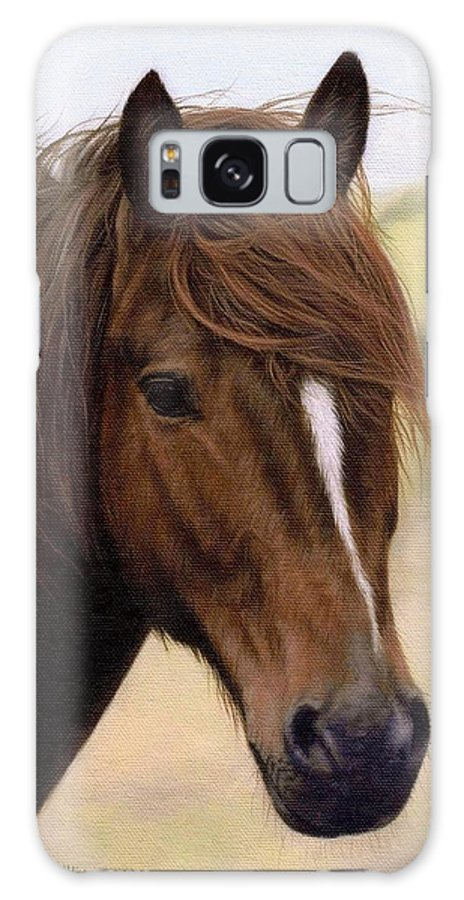 Pony Galaxy S8 Case featuring the painting Welsh Pony Painting by Rachel Stribbling