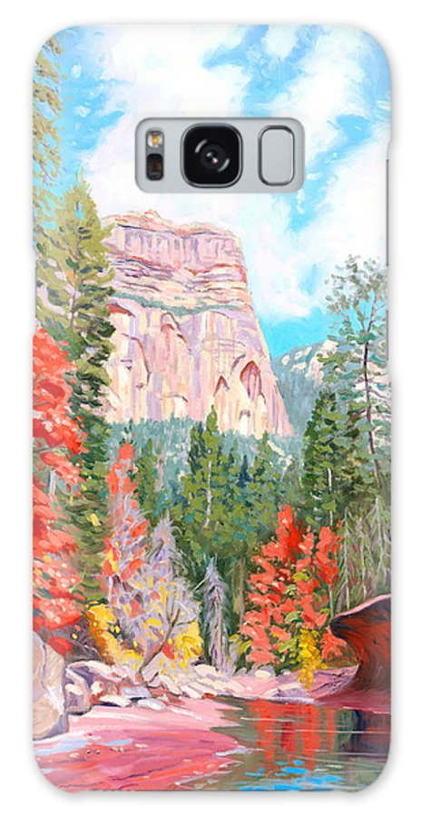 Sedona Galaxy Case featuring the painting West Fork - Sedona by Steve Simon
