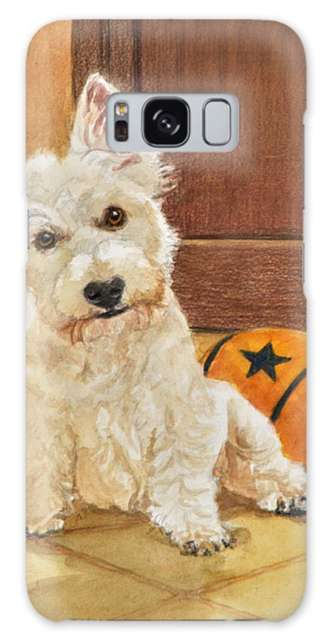 West Highland Terrier Galaxy S8 Case featuring the painting West Highland Terrier Puppy by Phyllis Tarlow