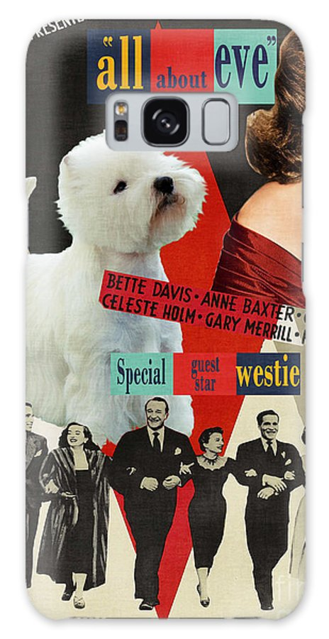 Westie Galaxy S8 Case featuring the painting West Highland White Terrier Art Canvas Print - All About Eve Movie Poster by Sandra Sij
