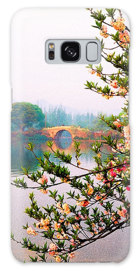 China Galaxy S8 Case featuring the photograph West Lake Blossums by Dennis Cox