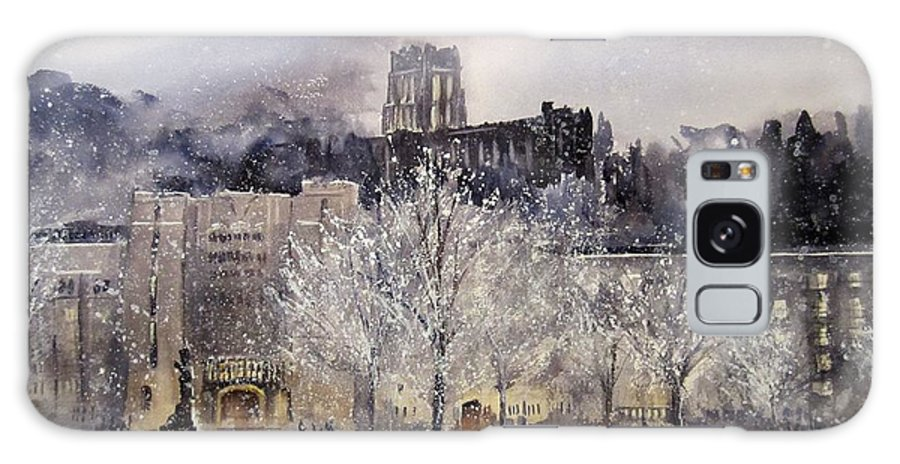 West Point Galaxy S8 Case featuring the painting West Point Winter by Sandra Strohschein