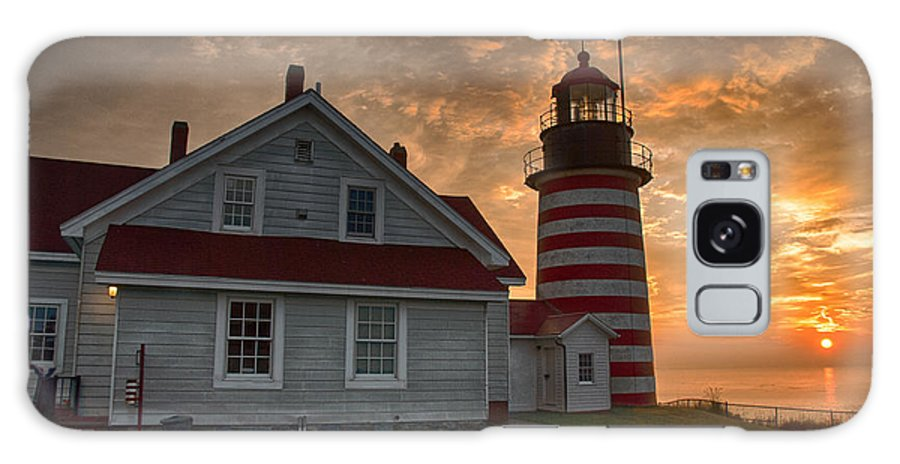 West Quoddy Galaxy S8 Case featuring the photograph West Quoddy Light At Sunrise by John Donovan