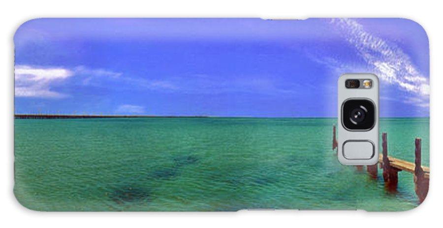 Western Australia; Beach Perth Panorama; Margaret River; Southern Hemisphere; Longest Wooden Jetty Galaxy S8 Case featuring the photograph Western Australia Busselton Jetty by David Zanzinger
