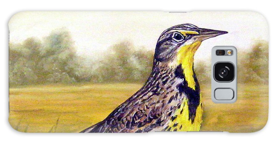 Birds Galaxy S8 Case featuring the painting Western Meadowlark Afternoon by Tom Chapman