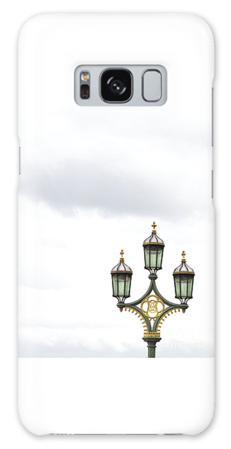 London Galaxy S8 Case featuring the photograph Westminster Bridge Lamppost by Ann Horn