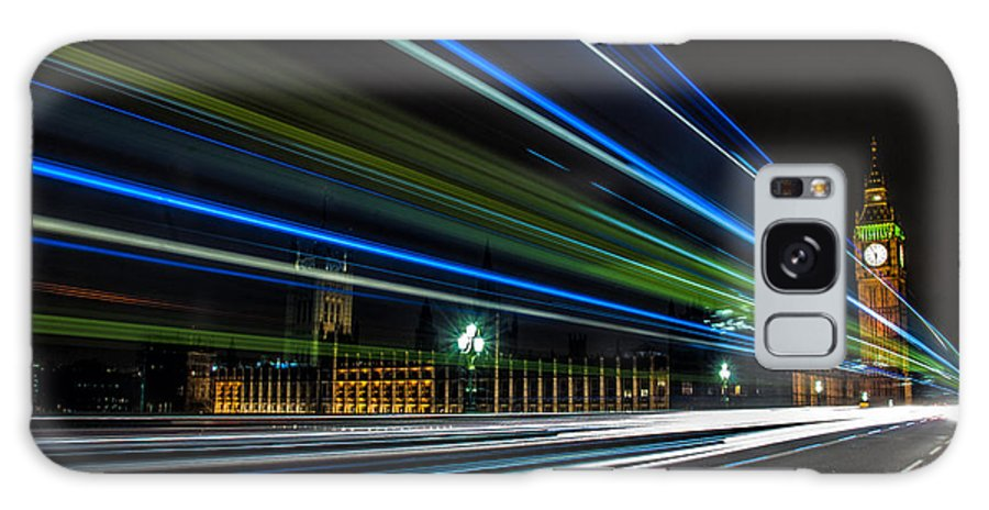Houses Of Parliament Galaxy S8 Case featuring the photograph Westminster Trailing Lights by Glenn Hewitt