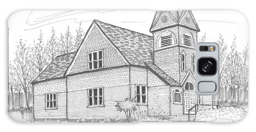 Church Galaxy S8 Case featuring the drawing Westmore Community Church by Richard Wambach