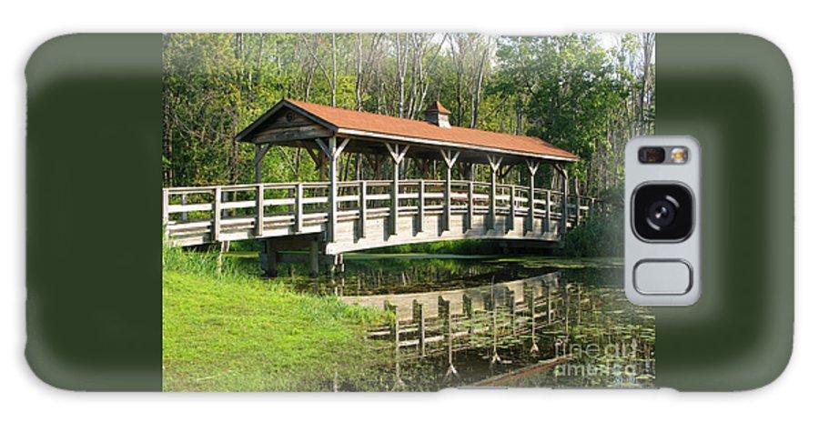 Bridge Galaxy Case featuring the photograph Wetland Footbridge by Ann Horn