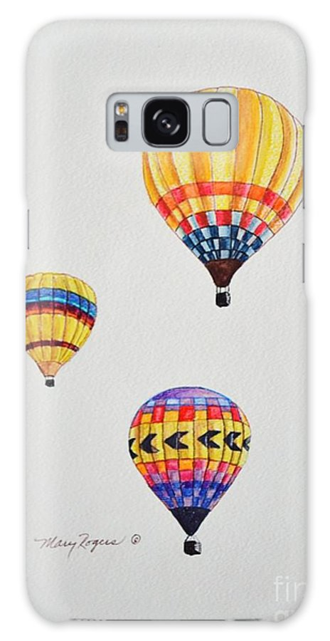 Balloons Galaxy S8 Case featuring the drawing What A Feeling by Mary Rogers