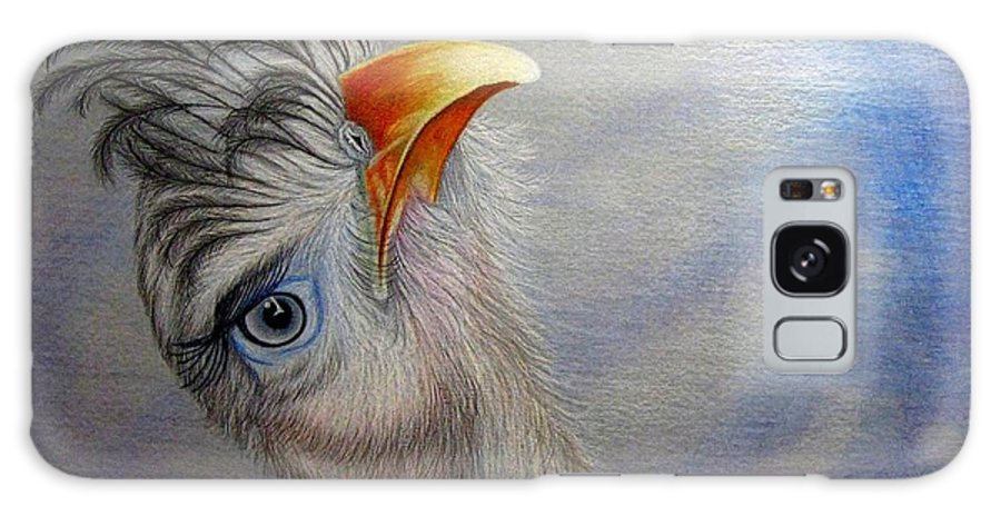 Bird Galaxy S8 Case featuring the drawing What Did You Say by Jo Prevost