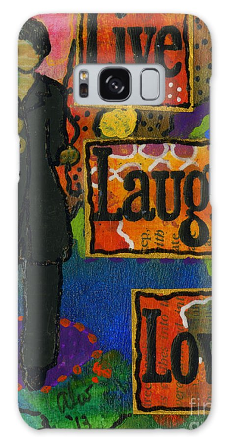 Journal Art Galaxy S8 Case featuring the mixed media What I Believe Works Wonders by Angela L Walker