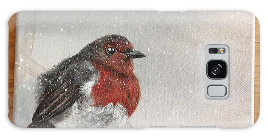 Robin Galaxy S8 Case featuring the painting What Will The Robin Do Then by Theresa Ranaghan