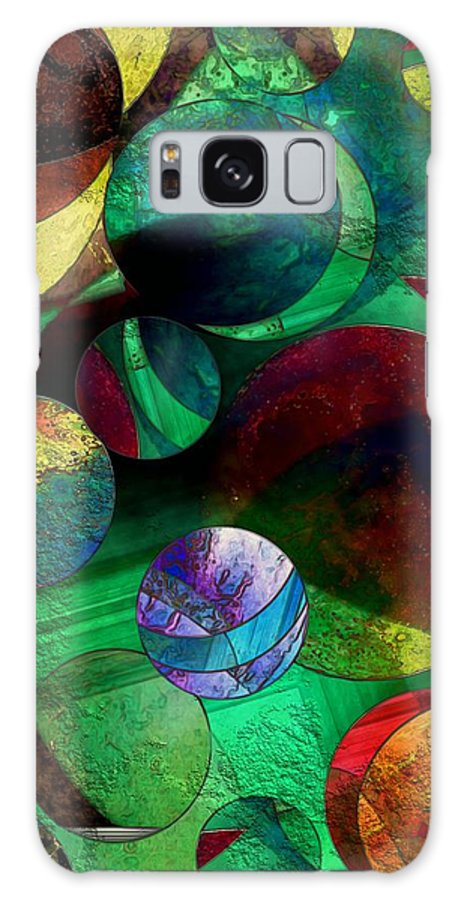 Planets Galaxy S8 Case featuring the painting When Worlds Collide by RC DeWinter