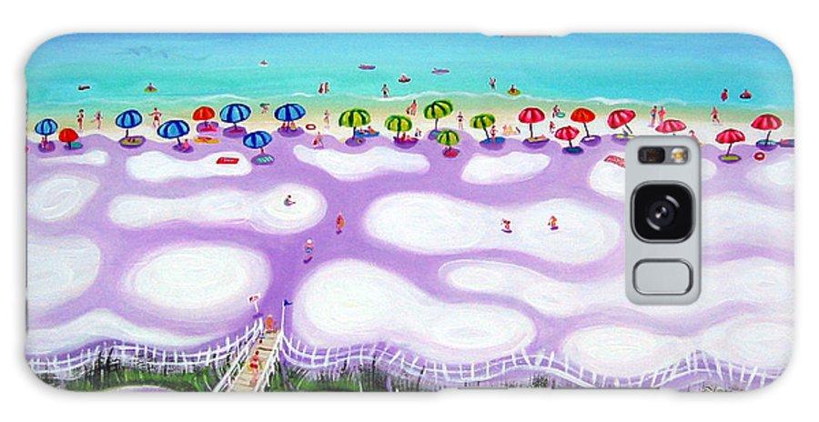 Beach Umbrellas Galaxy S8 Case featuring the painting Whimsical Beach Umbrellas - Seashore by Rebecca Korpita