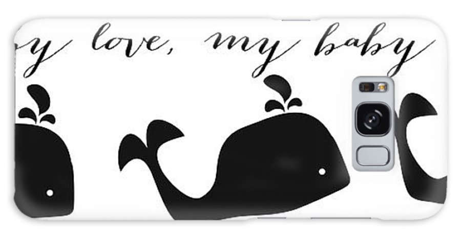 Nursery Galaxy S8 Case featuring the digital art Whimsical Whale by Legend Imaging