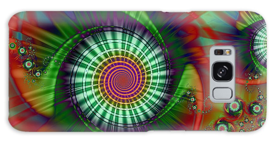 Whirligig Galaxy S8 Case featuring the digital art Whirligigs by Kiki Art