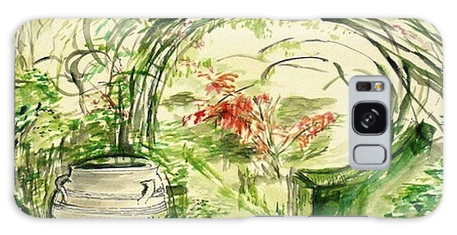 Landscape Galaxy S8 Case featuring the painting Whispers Of The Soft Wind by Helena Bebirian