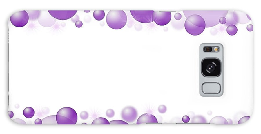 Background Galaxy S8 Case featuring the photograph White Christmas Background With Purple Balls. by Jaroslav Frank