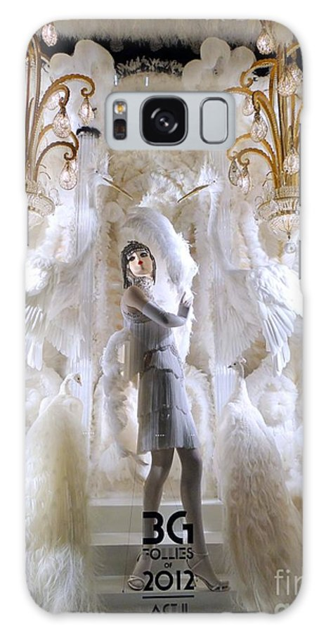 Mannequins Galaxy S8 Case featuring the photograph White Feathers by Ed Weidman