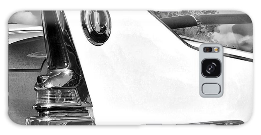 Car Auction Galaxy S8 Case featuring the photograph White Fin Bw Palm Springs by William Dey