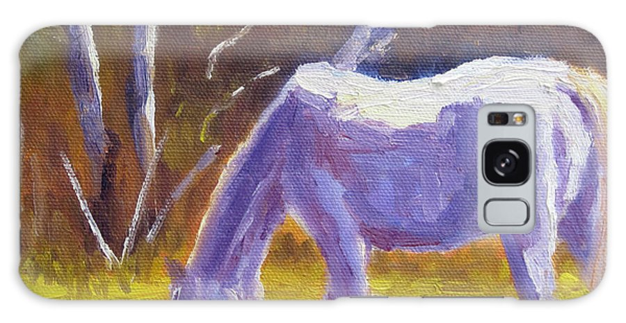 White Horse Galaxy S8 Case featuring the painting White Horse by Terry Chacon
