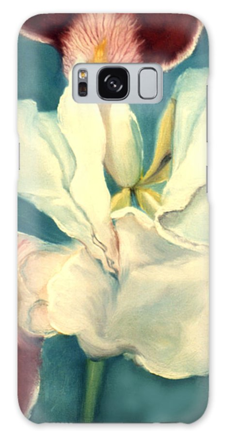 Flowers Galaxy S8 Case featuring the painting White Iris by Anni Adkins