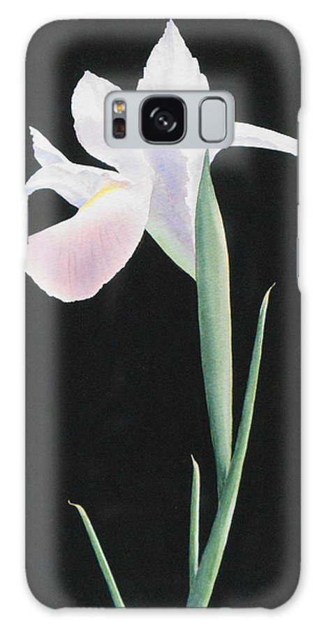 White Galaxy S8 Case featuring the painting White Iris by Jean Yates
