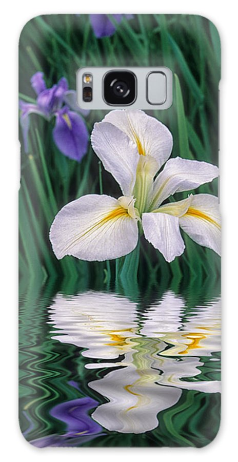 Flower Galaxy Case featuring the photograph White Iris by Keith Gondron