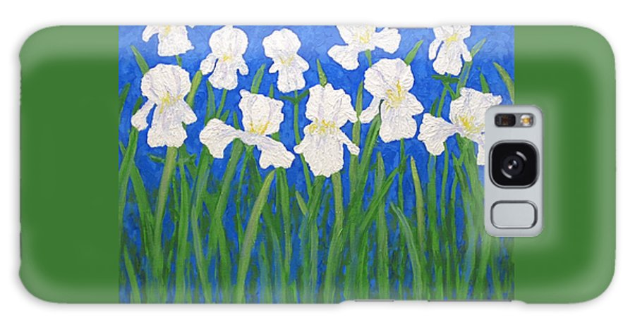 Iris Paintings Galaxy S8 Case featuring the painting White Irises by J Loren Reedy