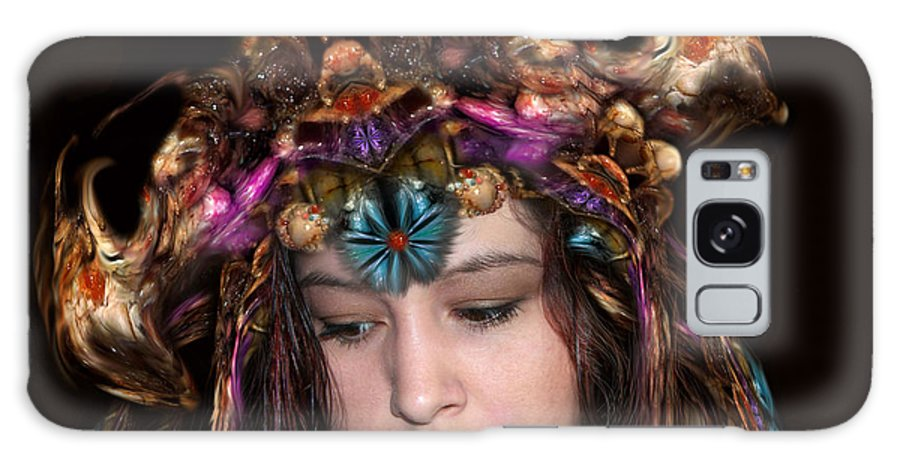 digital Art Galaxy Case featuring the digital art White Meat and Bones Tiara by Otto Rapp