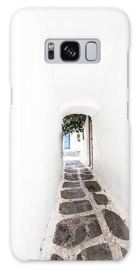 Mykonos Galaxy S8 Case featuring the photograph White Mykonian Corridor by Hakon Soreide