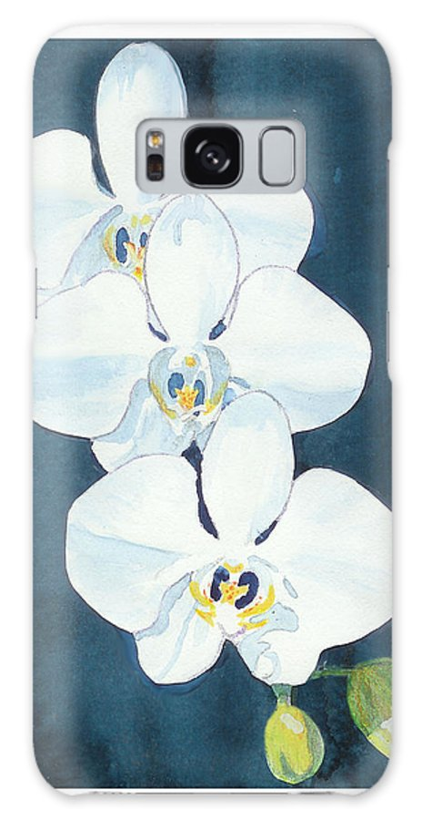 C Sitton Painting Paintings Galaxy S8 Case featuring the painting White Orchids by C Sitton
