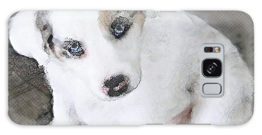 White Galaxy S8 Case featuring the photograph White Puppy Cuteness by Danielle Parent
