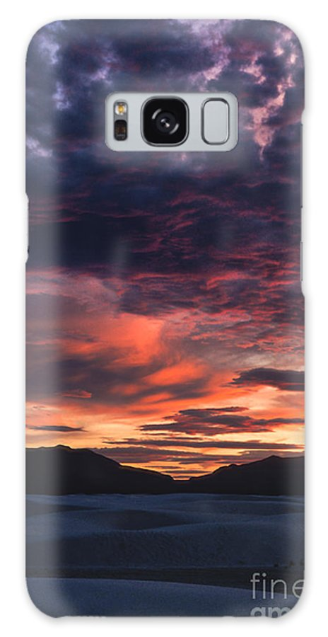 White Sands Galaxy S8 Case featuring the photograph White Sands Sunset by Sandra Bronstein