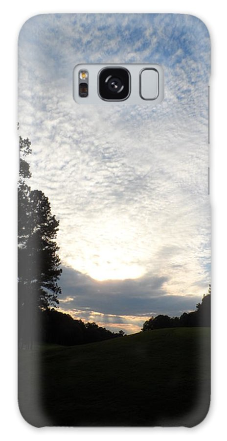 Clouds Sky Heavens White Sun Powder Cotton Sunset Golf Course Cherokee Un International Horsepark Rockdale County Georgia Galaxy S8 Case featuring the photograph White Skies Above by James Potts