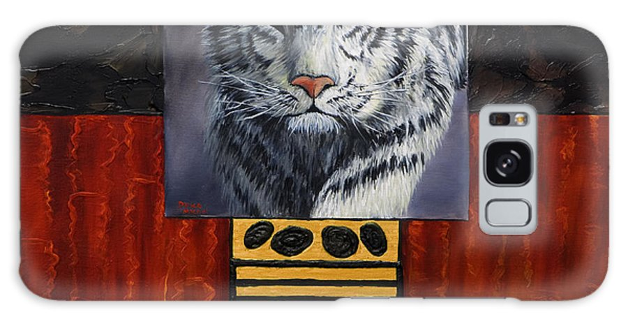 Animal Galaxy Case featuring the painting White Tiger by Darice Machel McGuire