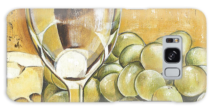 White Wine Galaxy S8 Case featuring the painting White Wine And Cheese by Debbie DeWitt