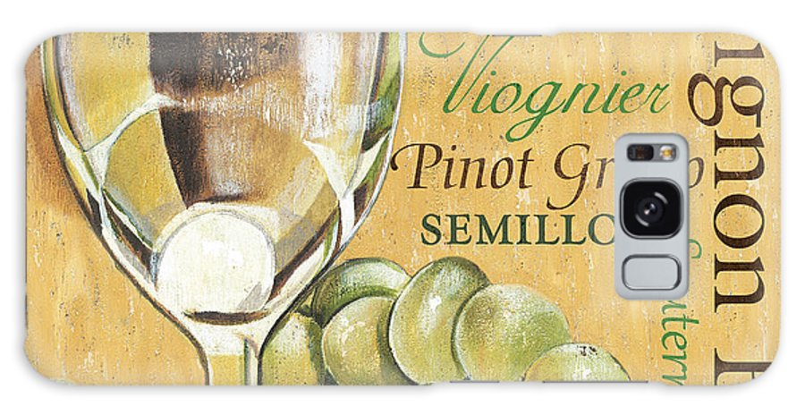 Wine Galaxy Case featuring the painting White Wine Text by Debbie DeWitt