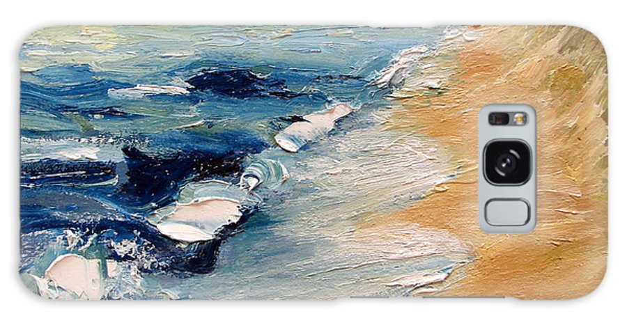 Whitecaps Galaxy Case featuring the painting Whitecaps On Lake Michigan 3.0 by Michelle Calkins