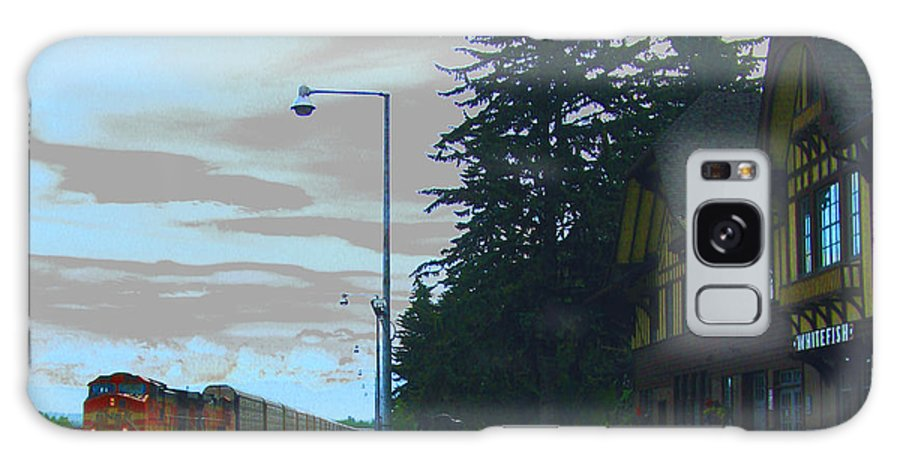 Train Galaxy S8 Case featuring the photograph Whitefish Depot by Patricia Januszkiewicz