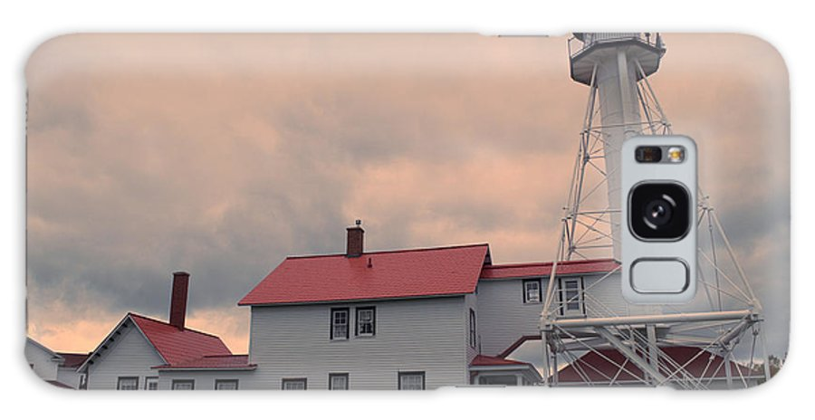 Whitefish Point Galaxy S8 Case featuring the photograph Whitefish Point Light by Linda Kerkau