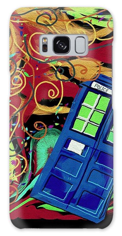 Digital Art Galaxy S8 Case featuring the digital art Spiral Through Time by Pamela Blayney
