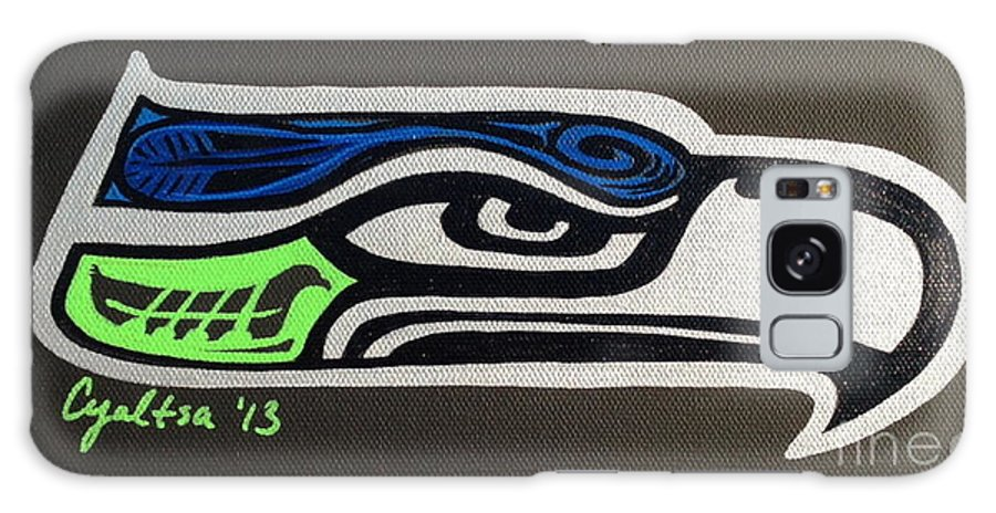 Seattle Seahawks Galaxy S8 Case featuring the painting Who Ready by A Cyaltsa Finkbonner