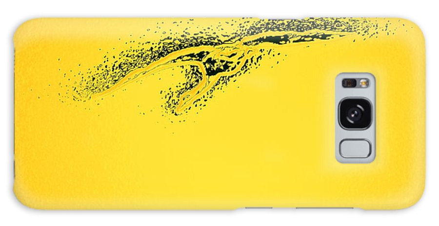 Cygnus Cygnus Galaxy S8 Case featuring the photograph Whooper Swan Yellow Abstract by Jouko Lehto