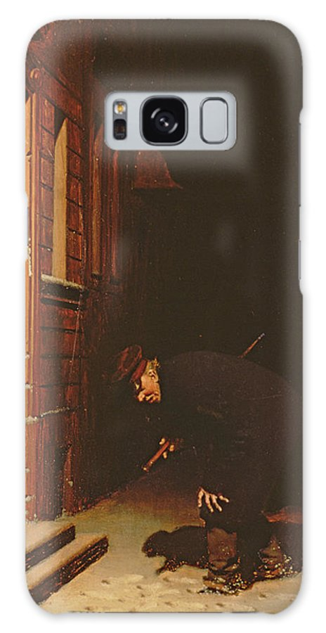 Watchman Galaxy S8 Case featuring the photograph Whose Traces In The Snow? by Carl Kronberger