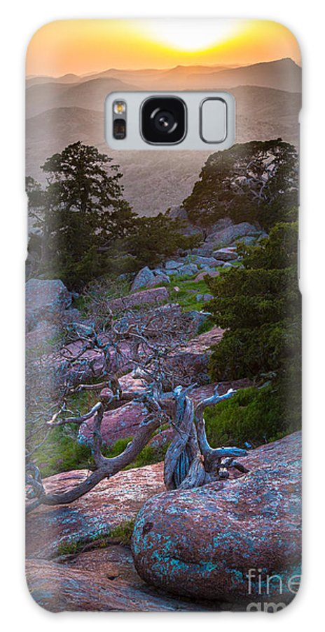 America Galaxy S8 Case featuring the photograph Wichita Mountains Sunset by Inge Johnsson