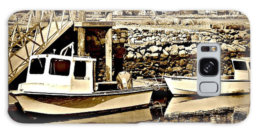 Boats Galaxy S8 Case featuring the photograph Wickford Marina by Diane Valliere